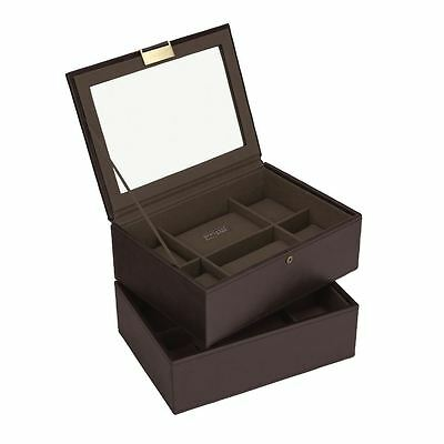 Stackers by LC Designs Brown/Khaki Set of 2 8 Piece Watch Trays
