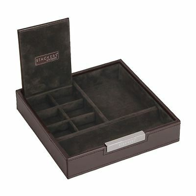 Stackers by LC Designs Gents Square Exec Brown Valet Tray
