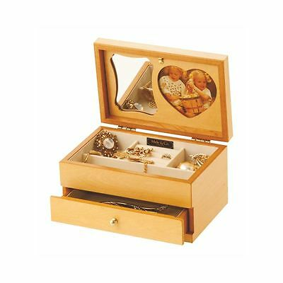 Mele & Co Shelley Light Wood Jewellery Box