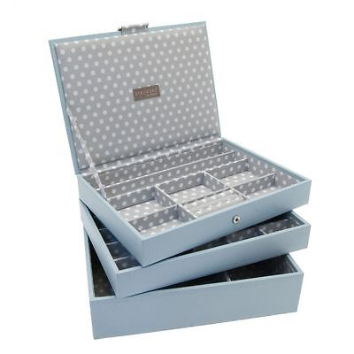 Stackers by LC Designs Set of 3 Blue Grey Medium Stacker Jewellery Trays