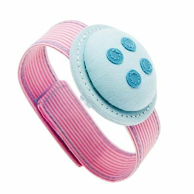 Button It Aqua Wrist Pin Cushion for Sewing/Needlework