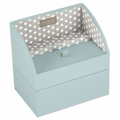 Stackers by LC Designs Duck Egg & Grey Polka Set of 2 Mobile Friendly Trays