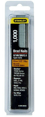 """STANLEY 12mm (1/2"""") BN050 BRAD NAILS - Pack of 1000"""