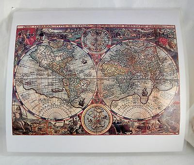 OLD WORLD MAP LAMINATED PLACEMATS Color1596,1630,1662,1665,1666,1670 Cartography
