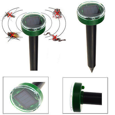 Solar Power Mole Mouse Mice Ultrasonic Gopher Rodent Pest Repeller Chaser Reject
