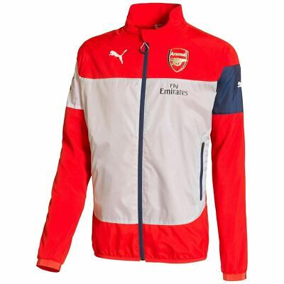 Puma FC Arsenal London Herren Fussball Soccer Gunners Leisure Jacke rot/weiß
