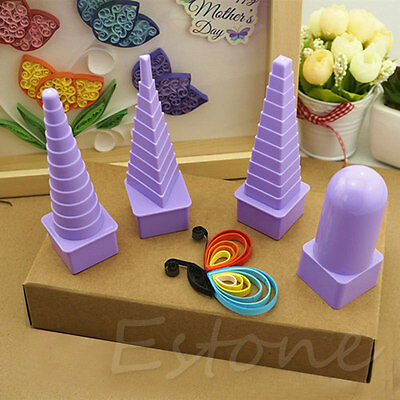4pcs Paper Quilling Border Buddy Tower Quilled Creation Craft DIY Tool Set New
