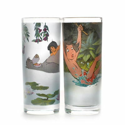Jungle Book Set Of 2 Glasses Tumbler Retro Vintage Gift Disney Mowgli Baloo Bear