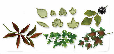 JEM Cake Icing Sugarcraft Floral Florist Foliage Mixed Leaves Leaf Cutter Set 2