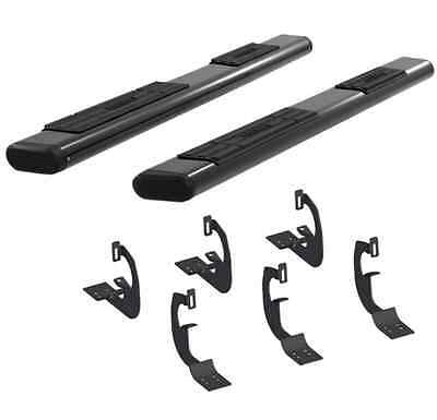 "Aries 4445005 BLK 6"" Oval Side Bars for Avalanche/1500/2500 w/Rocker Panel Mount"