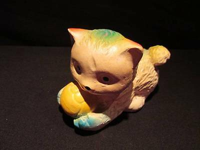 Kitten with Ball Multi-Colored Chalkware Figure September 1973 Fair Prize