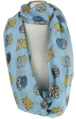 Womens Comic Owls Printed Scarf Owls Multicolour Trees Neck Shawl Fashion Wrap