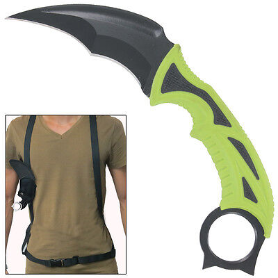 CSGO Survival Karambit Funeral Rites Fixed Blade Outdoor Knife