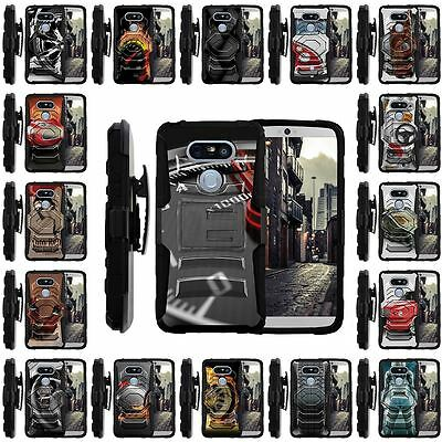 For LG G5 Case | Clip + Holster + Case Combo Kickstand Racing Car