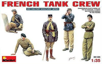 MiniArt Models 1/35 French Tank Crew (5 figures)