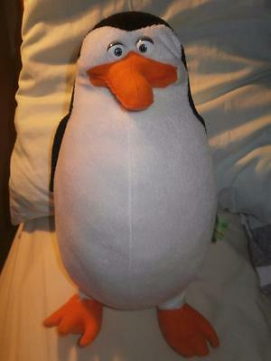 "Madagascar  Penguin Private cross eyed Soft Toy 13"" gy"
