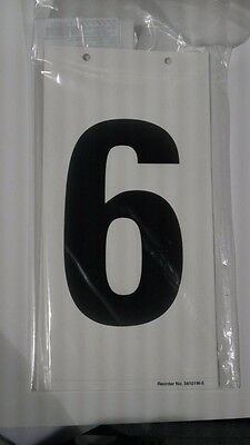 "6""x5"" White Number Label 6, Pk5 (M1126)"