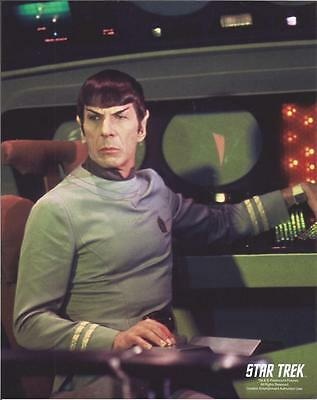 Star Trek Original Series Leonard Nimoy Seated by Controls 8 x 10 Photo