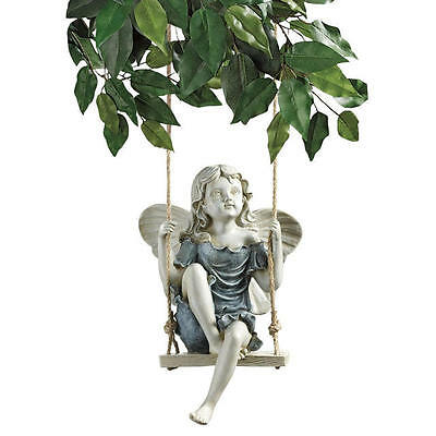New Design Toscano Summertime Fairy on a Swing Statue Ornament