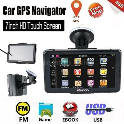 """7"""" HD Touch Screen Car GPS Navigatior Navigation 128M 4G Rom With Free Map + Pen"""
