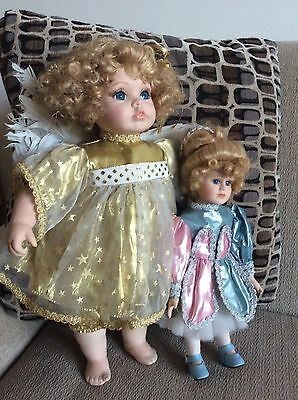 TINKERBELL N 1992 JC PENNEY ANGEL DOLLS W/  FEATHERS /LASHES great COSTUMES