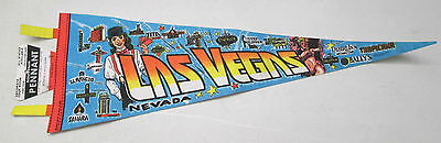 Vintage Las Vegas Nevada Souvenir Pennant Trench Mfg Co. USA Aladdin Bally's NWT