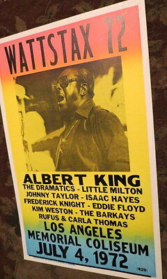 VINTAGE WATTSAX '72 70S ALBERT KING BLUES CONCERT POSTER Little Milton LA Ca.