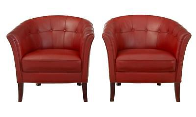 PAIR OF 1970's LEATHER CLUB ARMCHAIRS