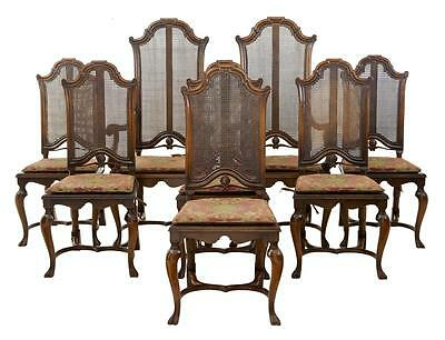 Set Of 8 Late 19Th Century Walnut William And Mary Design Dining Chairs