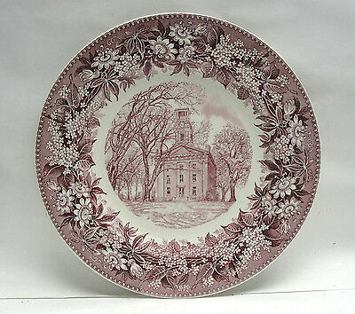 WEDGWOOD CHINA TRANSFERWARE PLATE - ERWIN HALL at MARIETTA COLLEGE