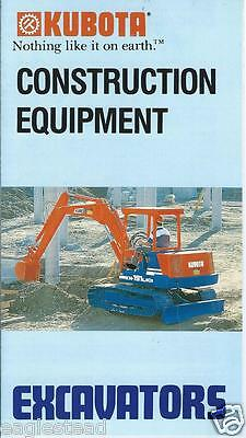 Equipment Brochure - Kubota - Excavator Line Overview - c1989  (E2930) - S