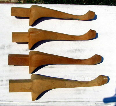 ** SET of FOUR (4) - hardwood COFFEE / END TABLE LEGS - from Pennsylvania House