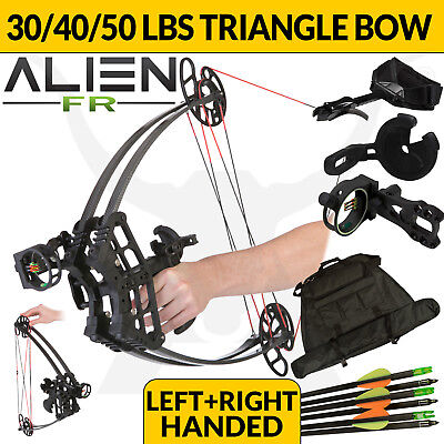 FIELD READY ALIEN BLACK 30-50lbs Triangle Compound Bow Left Right Handed Archery