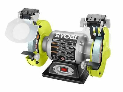 Phenomenal Ryobi 6 Inch Bench Grinder Grinding Wheel Led Light Benchtop Gmtry Best Dining Table And Chair Ideas Images Gmtryco