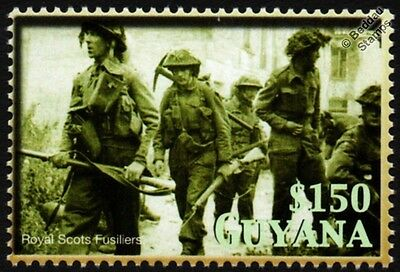 WWII 1944 British Army Soldiers/Royal Scots Fusiliers Operation Epsom War Stamp