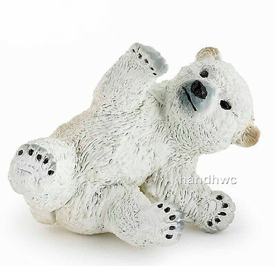 Papo 50143 Polar Bear Cub Playing Model Animal Toy Replica - NIP