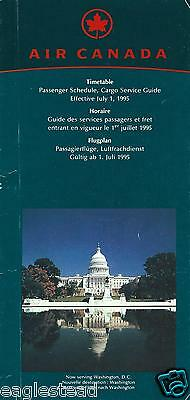 Airline Timetable - Air Canada - 01/07/95 - Washington Capitol cover