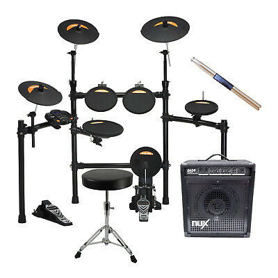 NuX DM2 8 Piece Digital Electronic Drum Kit + Amp and Stool - New