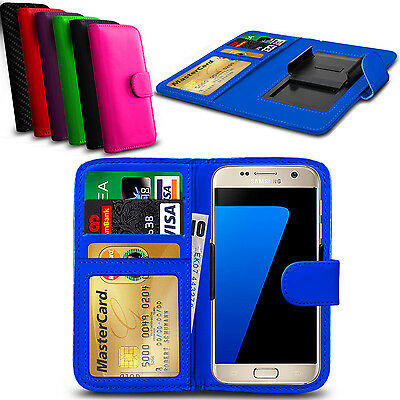 Clip On PU Leather Flip Wallet Book Case Cover For Samsung Galaxy A7 (2016)