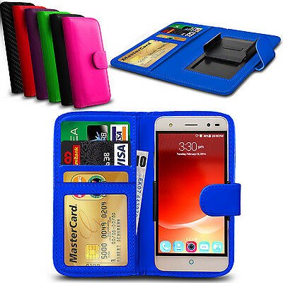 Clip On PU Leather Flip Wallet Book Case Cover For ZTE Grand X2