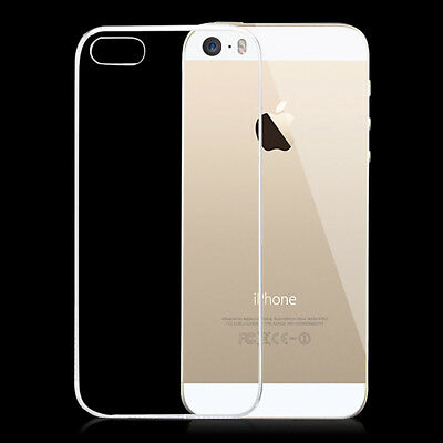Ultra Thin Transparent Soft Silicone Rubber Back Case Cover Skin For iPhone SE 5