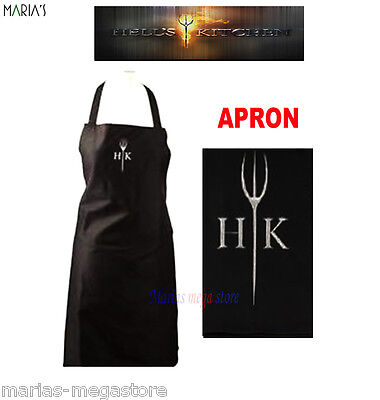 Hells Kitchen Apron Chef Chefs Black Kitchen Cooking Cotton Baking BBQ Catering