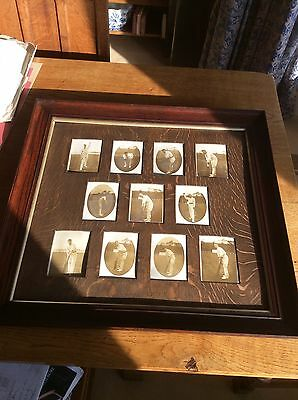 Original Early 1900's Framed Cricket Team Photograph Postcards