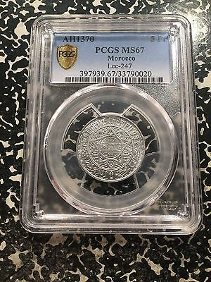 AH 1370 (1950) Morocco 5 Franc PCGS MS67 Lot#G512 Stunning Example!