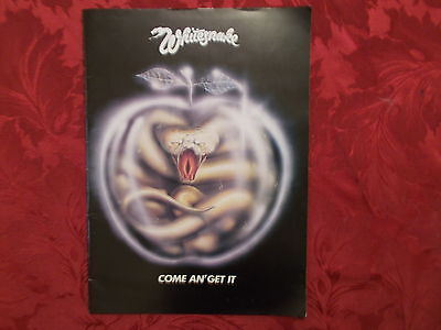 Whitesnake 1981 Come And Get It  Programme