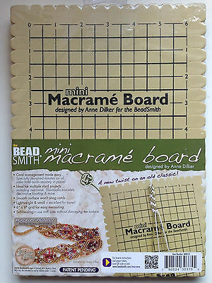 "Beadsmith Mini Macrame Board 6"" x 9"" Grid, shamballa, knotting, jewllery, craft"