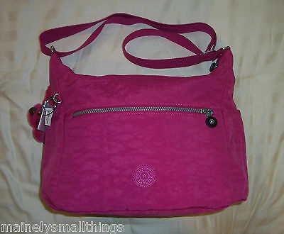 f18088095c9 NWT Kipling ALENYA Medium Shoulder Crossbody Bag VERY BERRY PINK HB6628