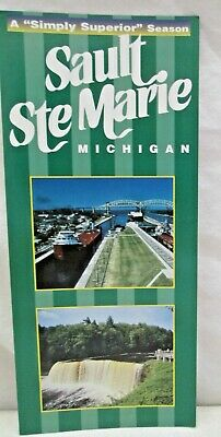 A Simply Superior Season Sault Ste. Marie Michigan Brochure 2 Sided Card