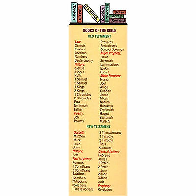 Lot of 10 Bookmarks Books of the Bible Old & New Testaments FREE SHIPPING!!