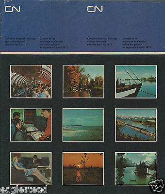 Railroad Timetable - Canadian National - 29/04/73